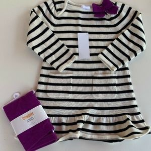 Gymboree Purrfectly Fabulous Girls 3T White Black